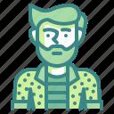 hipster, artist, man, boy, avatar
