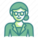 woman, glasses, girl, teacher, avatar