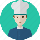 avatar, chef, hat, kitchen, people, restaurant, uniform icon