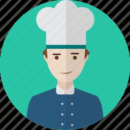 avatar, chef, hat, kitchen, people, restaurant, uniform icon