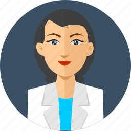avatar, doctor, health, lady, people, professional, uniform icon