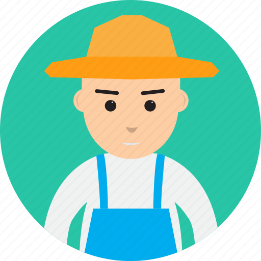 avatar, farmer, harvest, hat, man, people, profession icon