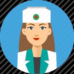 assistance, avatar, hospital, nurse, people, profession, professional icon