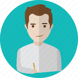 avatar, creative, journalist, paper, people, text, write icon