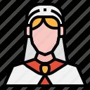 arab, avatar, girl, hijab, people, user, woman