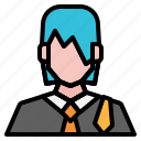 avatar, girl, lawyer, people, user, woman icon