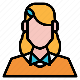 avatar, girl, nerds, people, user, woman icon