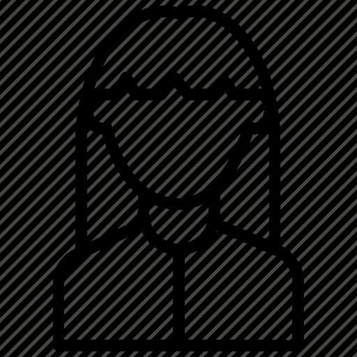 avatar, female, girl, women icon