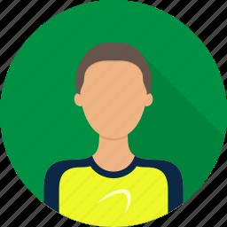 athlete, avatar, male, man, sportsman icon