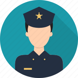 avatar, guard, hat, police, safety icon