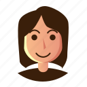 avatar, people, profile, user, woman icon