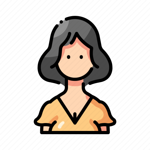 avatar, face, hair, housewife, people, profile, short icon