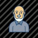 avatar, male, man, person, senior, user, young icon icon