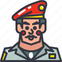 army, colonel, general, man icon