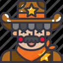 cowboy, man, rider, western