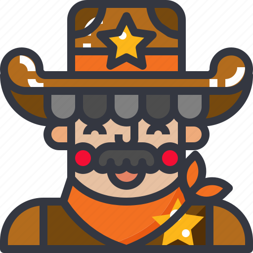 cowboy, man, rider, western icon