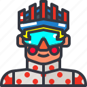 biker, cyclist, man, rider icon