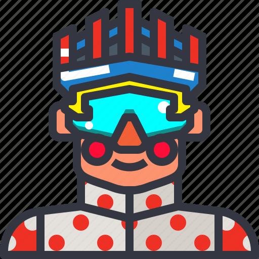 biker, cyclist, man, rider icon