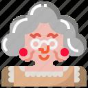 female, grandma, grandmother, woman icon