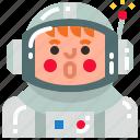 astronaut, astronomy, cosmonaut, spaceman icon