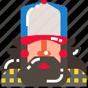 driver, man, truck, trucker icon