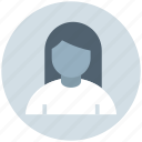 avatar, blonde, girl, lady, office woman, woman icon