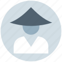 avatar, conical, costume, hat, japanese, man, traditional