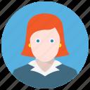 account, avatar, woman