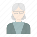appearance, avatar, elderly, face, hairstyle, image, woman icon