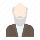 appearance, avatar, elderly, face, hairstyle, image, man icon