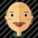 avatar, bald, grandpa, man, profile, smiley, user