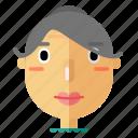 avatar, emoji, grandma, grandmother, profile, smiley, woman
