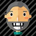 avatar, emoticon, grandfather, grandpa, man, profile, smiley