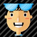 avatar, boy, man, modern, person, profile, smiley