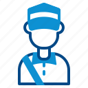 postman, avatar, courier, profession, deliveryman, mailman, delivery icon