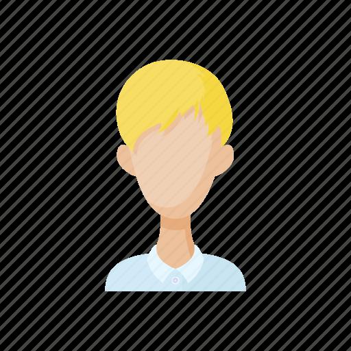 avatar, blond, cartoon, men, people, sign, style icon