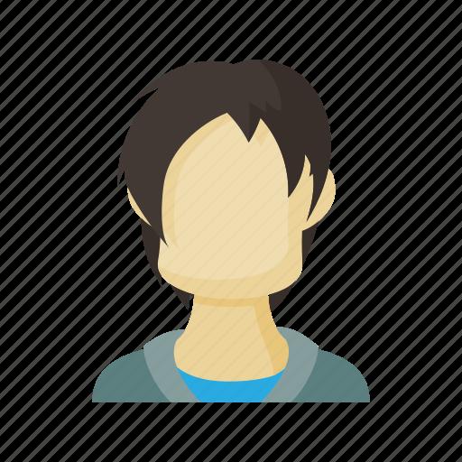 avatar, cartoon, faceless, men, sign, style, teenager icon