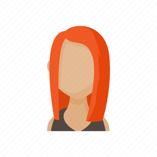 avatar, cartoon, faceless, people, sign, style, woman icon