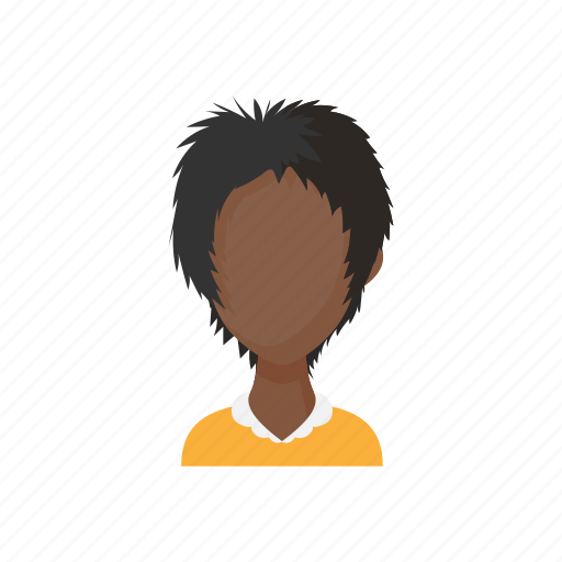 avatar, cartoon, faceless, people, sign, style, woman icon