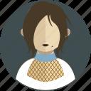 dress, fashion, female, lady, person, profile, women icon