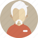 beard, boy, male, mustache, old man, professor, teacher icon