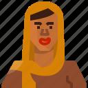 african, avatar, female, girl, muslim, user, woman icon
