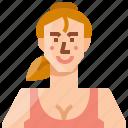 account, avatar, caucasian, female, girl, user, woman icon