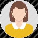 business, clothing, dress, lady, man, profile, wear icon