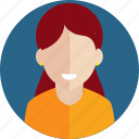 avatar, building, college, female, graduate, learn, student icon