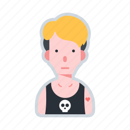 avatar, character, man, musician, punk icon