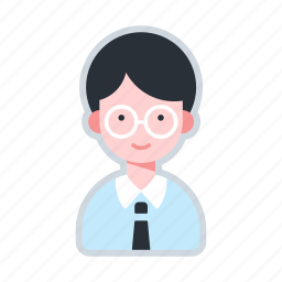 avatar, character, glasses, man, office worker, worker icon