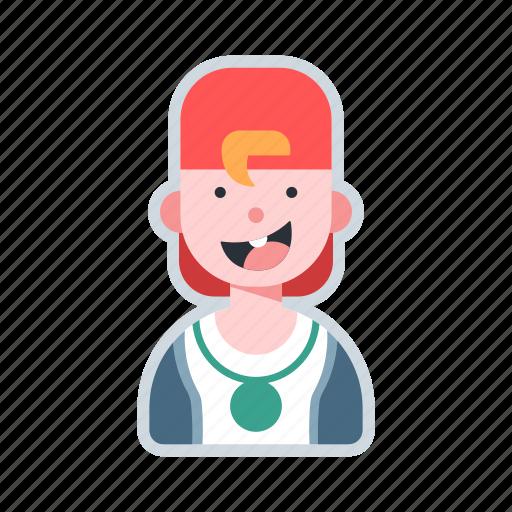 avatar, boy, cap, character, teen icon