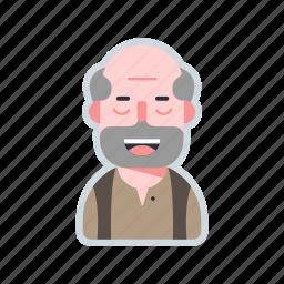 avatar, character, elder, old, villager icon