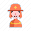 avatar, character, equipment, firefighter, rescue icon